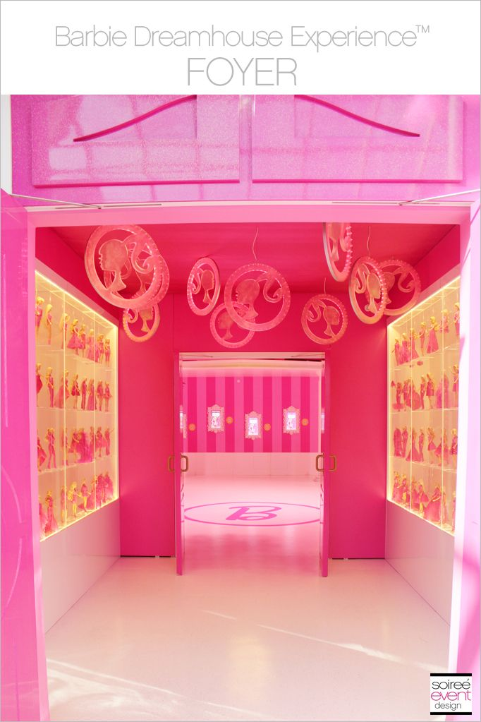 The Barbie Dreamhouse Experience at Mall of America Entrance and Foyer. See all the photos on my blog Soiree-EventDesign.com