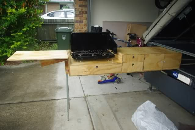 A Great DIY Pull Out Kitchen Camping Trailer DIY