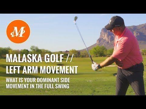 6 Malaska Golf Left Arm Motion Full Swing Left Hand Vs Right Hand Youtube In 2020