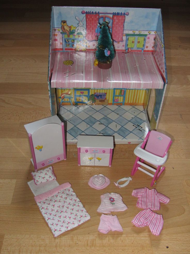 mini baby born miniworld 11 cm wei e m bel schlafanzug. Black Bedroom Furniture Sets. Home Design Ideas