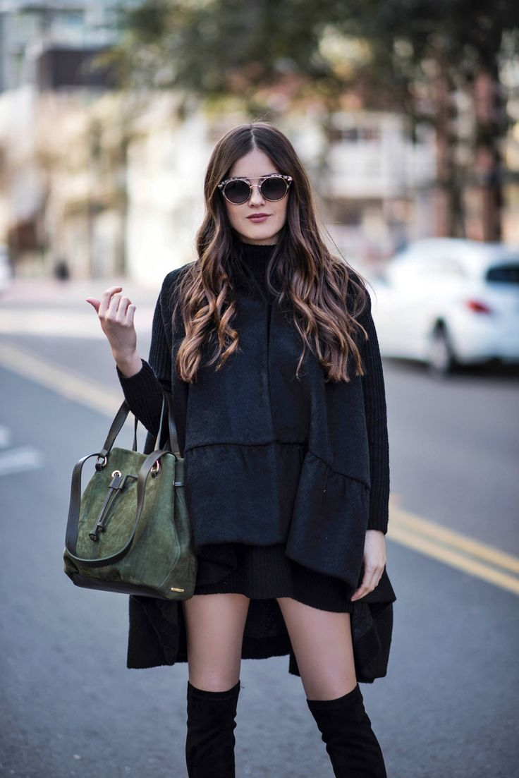 A huge plus of wearing all-black is that it creates a slimming effect. I am in my second trimester and I will be relying on all-black outfits.