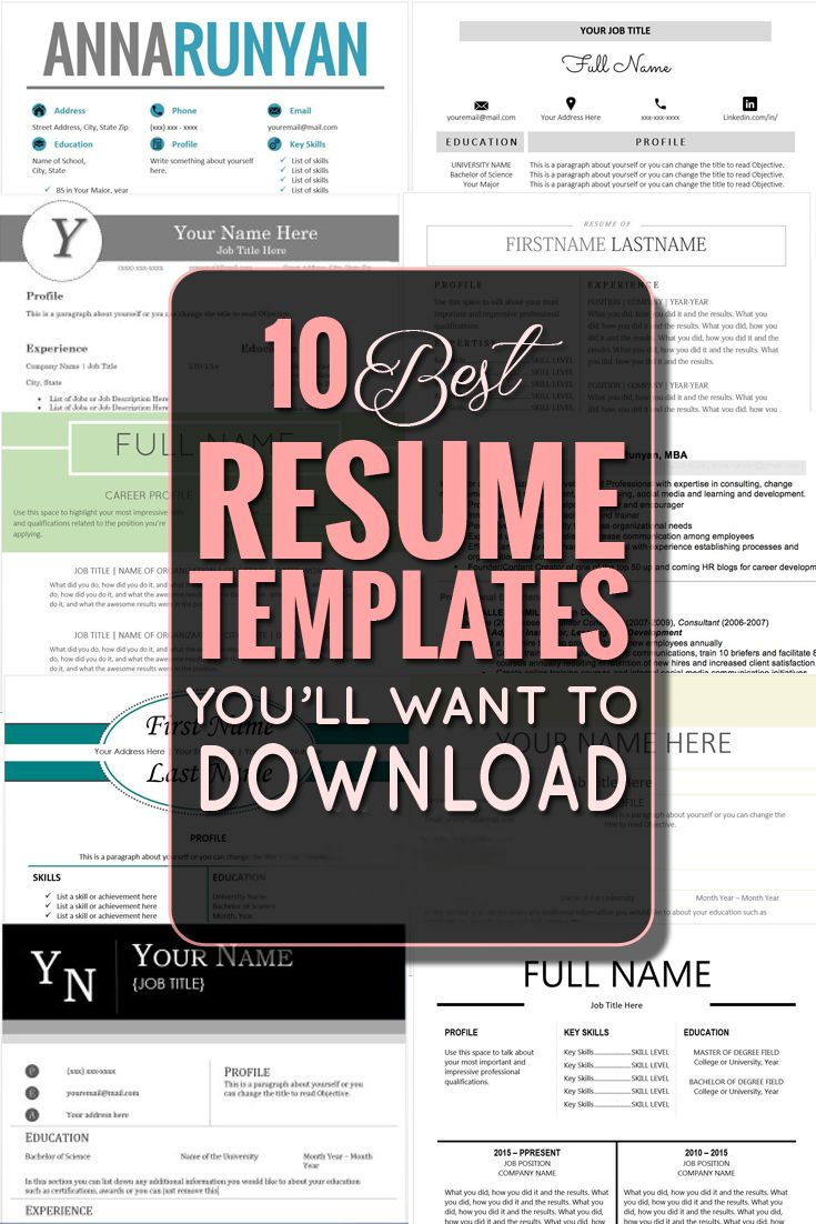 Best Resume Templates Images On   Resume Tips