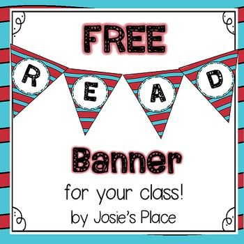 Enjoy this FREE READ banner for your classroom library. Feel free to check out…
