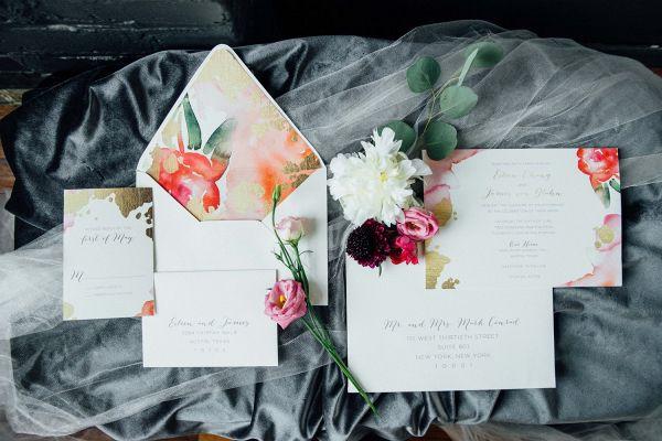 Watercolor invitation  #wedding #weddings #weddinginspiration #engaged #aislesociety #weddingtrends