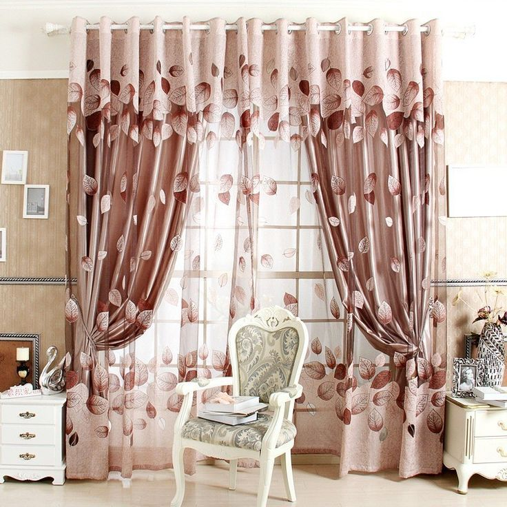 Cheap curtains windows, Buy Quality curtains door window directly from China window tag Suppliers: 2015 New Arrival Ready Made Luxury Curtains For Living Room/Bedroom Tulle+ Thick Curtains Purple/Brown Free ShippingUSD