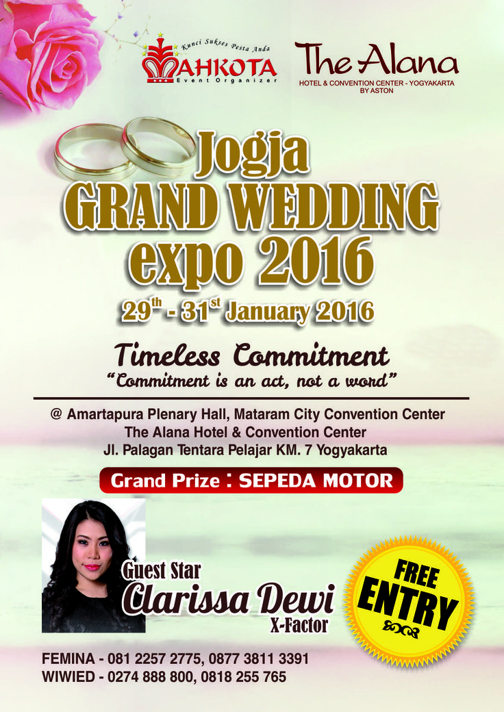 Jogja Grand Wedding Expo on 29 -31 January 2016