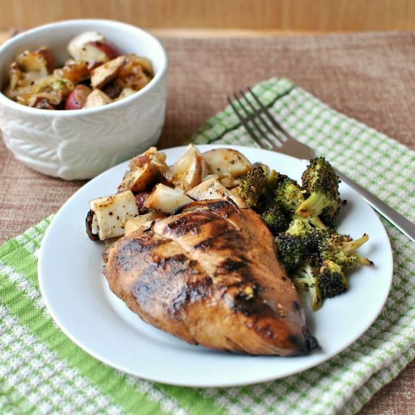 tangy-marinated-grilled-chicken-and-foil-packet-new-potatoes-with-broccoli