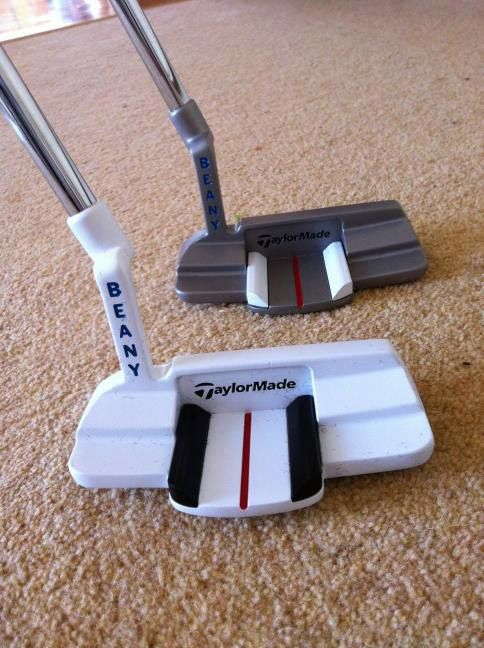 """LPGA Tour player Catriona Matthew compared and contrasted her new TaylorMade putters (""""Beany"""" is her nickname)."""