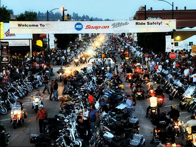 Bike Week - Sturgis SD - made it up there 13 times but #13 was not good, shattered my knee the first day