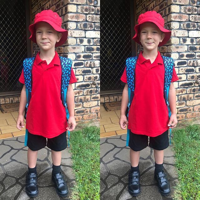 The day has come when I leave my itty bitty baby behind and take the handsome young man to school. He maybe super excited but Im a river of tears. When did this happen? #TheGrowUpSoFast #WhereDidMyBabyGo #FirstDayOfSchool #MyMummyCan