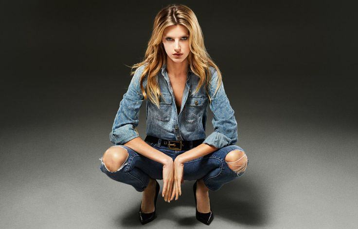 D-ID Jeans - AMAZONE SHIRT - LIGHT BLUE NEEDLEMANIAJEANS: ANKLE SKINNY - ELLE DESTROY
