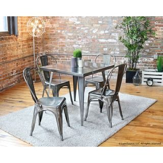 Contemporary Grey 5 piece dining set  | Overstock.com Shopping - The Best Deals on Dining Sets