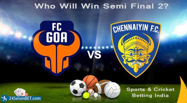Knockout Match Started Predict Who will Win 2nd semi Final? Place Free Bet During #ISL and Win Lots of Amazing Prizes online at #24sevenbet