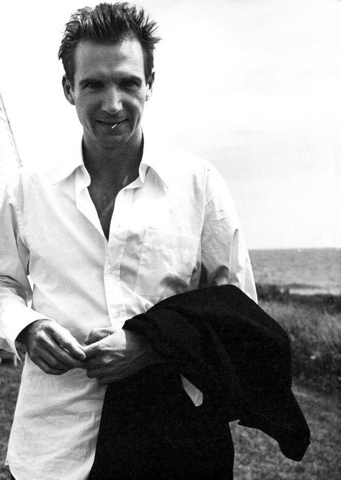Ralph Fiennes B & W #handsome #men