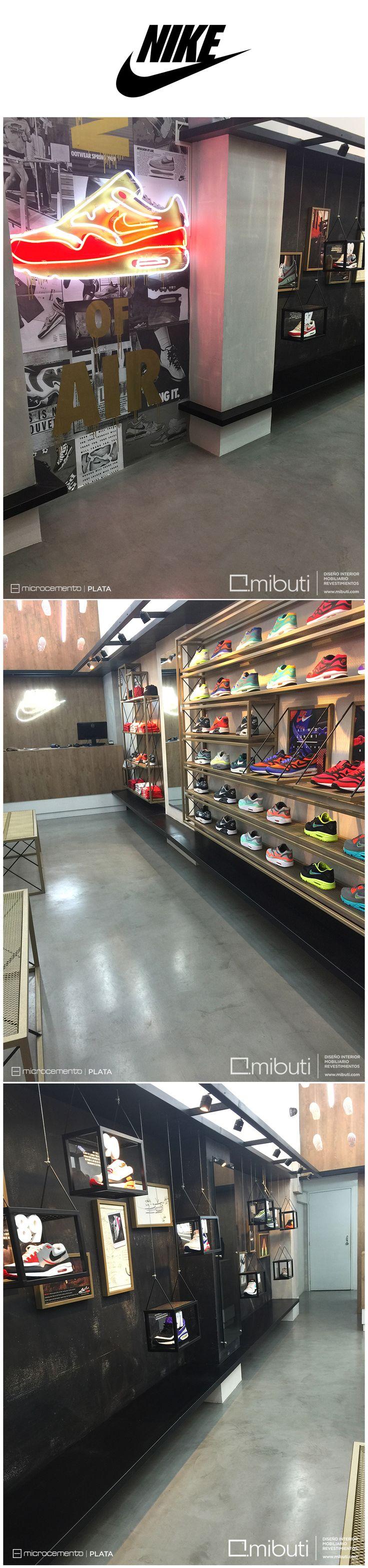#Mibuti con las Grandes Marcas, esta vez en La Tienda Air Max House de @Nike en la Zona T de #Bogotá que conmemora los 28 años del calzado Air Max. #Pisos en #MicroCemento Gris Acero. #Revestimientos  #Revestimientos  #InteriorDesign #Nike #nikesportwear #popup #bogota #colombia #fashion #airmax