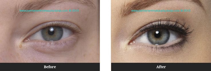 Permanent Eyeliner Before And After | Permanent Makeup by Dunja | 3D® Eyes