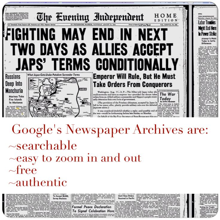 Online Historical Newspapers - Google Sites