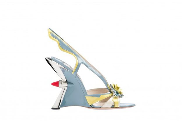 Prada's outrageous cantilever wedge Hot Rod heels from Spring/Summer 2012