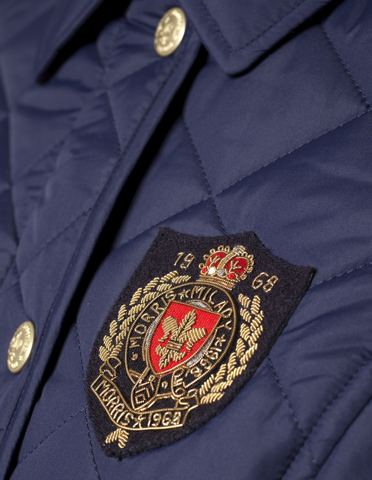 Morris Lady Audrey Quilted Jacket Navy