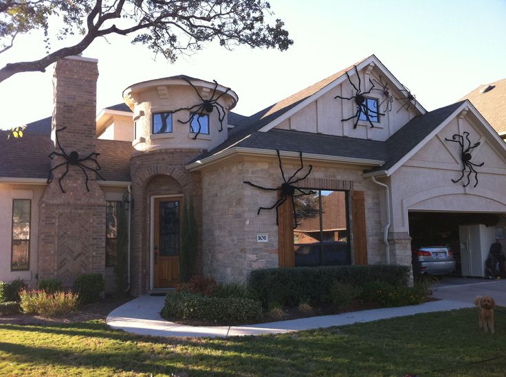 giant house spider decorations halloween pinterest