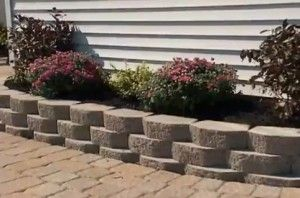 Building a retaining wall for a raised flower bed