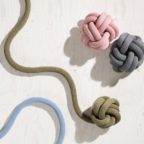 Knot kudde - Knot kudde - rosa