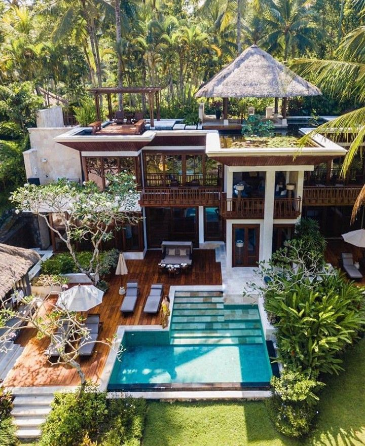 Dream House Dreamhouse Dream Home Villa Paradise Swimming Pool House Exterior Architecture House