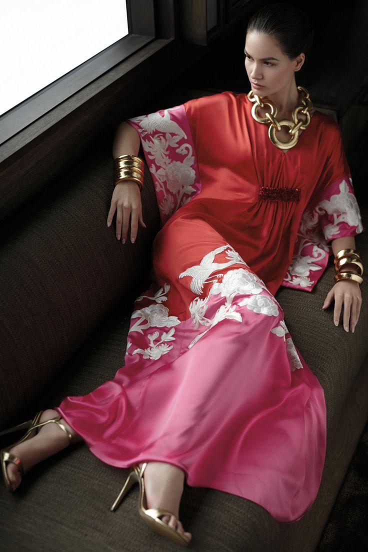 Josie Natori Couture Jardin Caftan Spring 2014 #josienatori #caftan #spring14