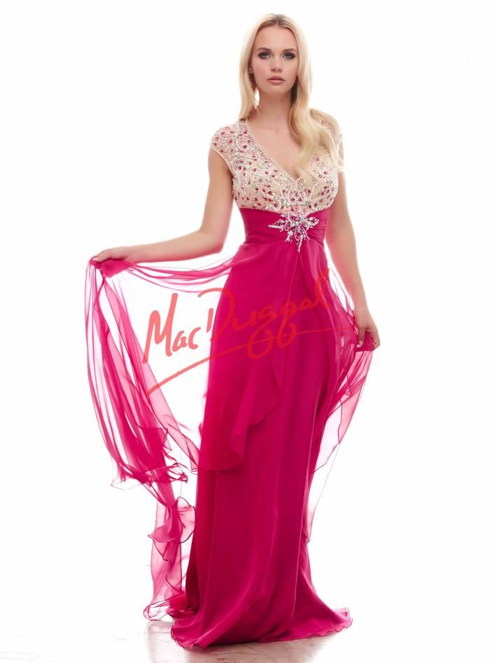 Fully Sequined 3/4 Sleeve Sheath Evening Dress by Mac Duggal | WC ...