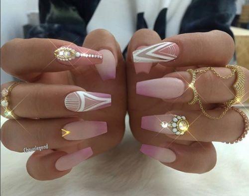 White matte acrylic nails tumblr