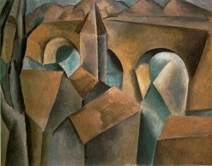 P.Picasso.1909.  Paysage avec un pont