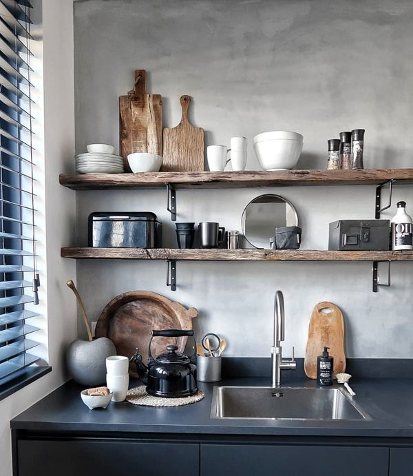 Houten Wandplank Keuken.Inspiratie Een Houten Plank In Je Interieur Keuken Ideeen
