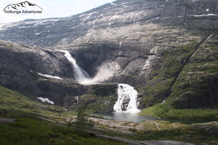 Waterfalls from the first day of the fourdaytrek to The Troll's tongue in #Norway. Husedalen, Kinsarvik, Hardangervidda.