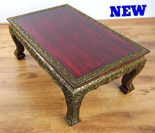 Unique Coffee Table End Beautiful Wood Ornament Antique Handmade Thai Furniture Ebay Http Www Co Uk Itm