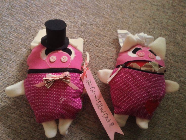 Hochzeitsgeschenk Nähen Schweine