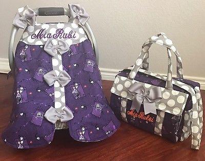 Nightmare Before Christmas Handmade Baby Infant Car Seat Canopy Diaper Bag