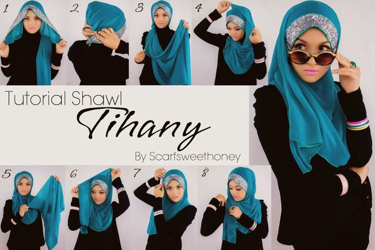 #hijab #sequin #glitter #shawl #tutorial #stepbystep