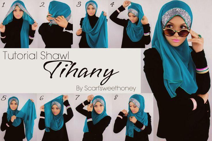#hijab #sequin #glitter #shawl #tutorial #stepbystep