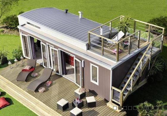 Beautiful 'Small' home (330 Sq Feet-ish) in France. Deck on top.