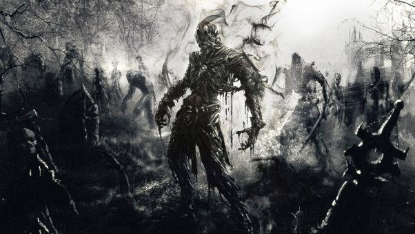 Wallpaper zombies, fantasy, art