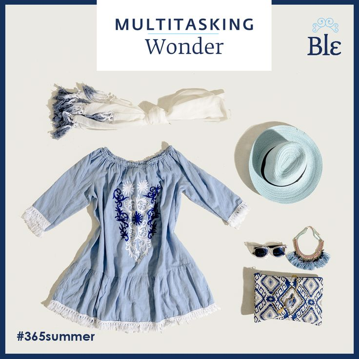 Is it a dress or a beach cover-up? Both! #Ble Resort's Summer Collection 2017 presents beautiful multitasking choices so you feel and look your best no matter what the day brings! Explore the collection at www.ble-shop.com
