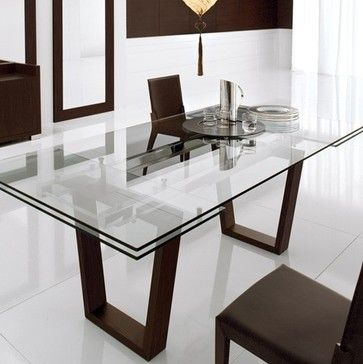 Targa 72 in - 102 in Extension Table - modern - dining tables - YLiving.com