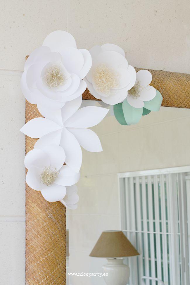 Nice Party decoración con flores de papel