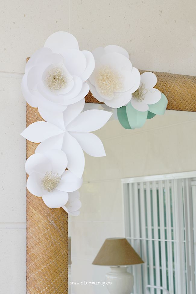 17 best ideas about flower mirror on pinterest diy for Decoracion con papel