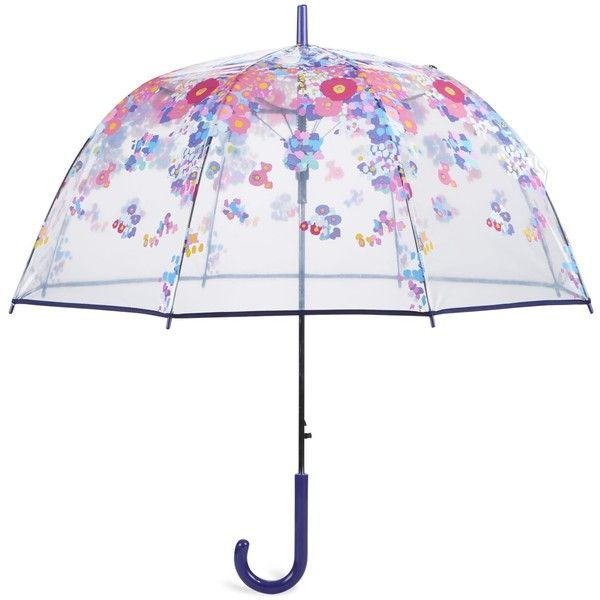 Vera Bradley Auto Open Bubble Umbrella in Impressionista (£29) ❤ liked on Polyvore featuring accessories, umbrellas, umbrella, random, impressionista, new arrivals, travel, clear bubble umbrella, vera bradley umbrella and travel umbrellas