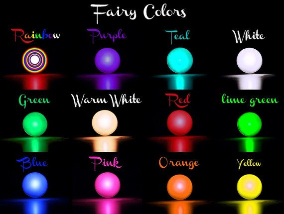 Fairy Lights, 12 different colors, fading light, magic light orb or ball, waterproof, battery operated, colorful, fairy berry, LED, decor