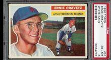 1956 Topps Baseball #51 Ernie Oravetz PSA 6 National WB