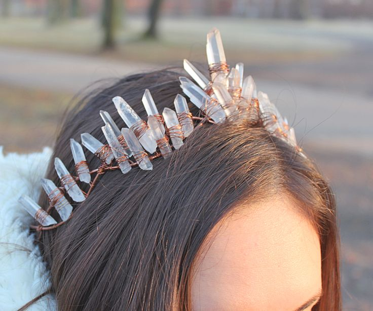 crystal crown wire wrapping copper rhinestones