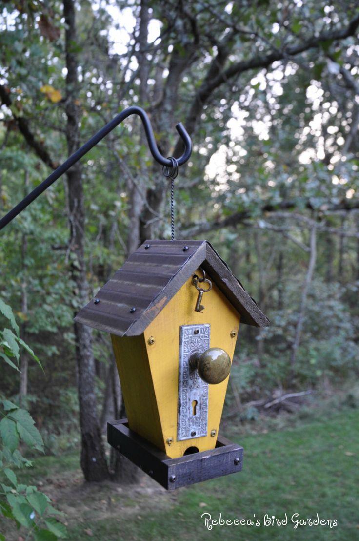 "Rustic Bird-Feeder ~ ""The Cafe"" by RebeccasBirdGardens on Etsy https://www.etsy.com/listing/251140858/rustic-bird-feeder-the-cafe"