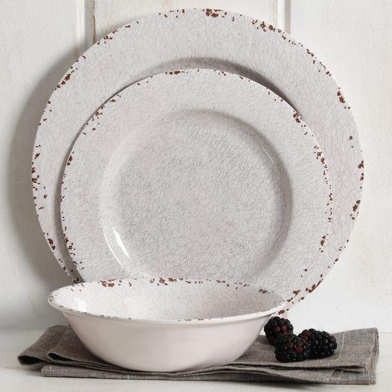Maegan 12-Piece Melamine Dinnerware Set
